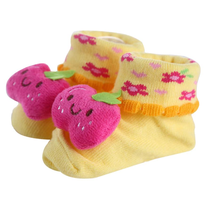 1Pair Newborn  0-10 Months Lovely and Charming animal design Baby Anti-slip Socks Cotton Boots<br><br>Aliexpress