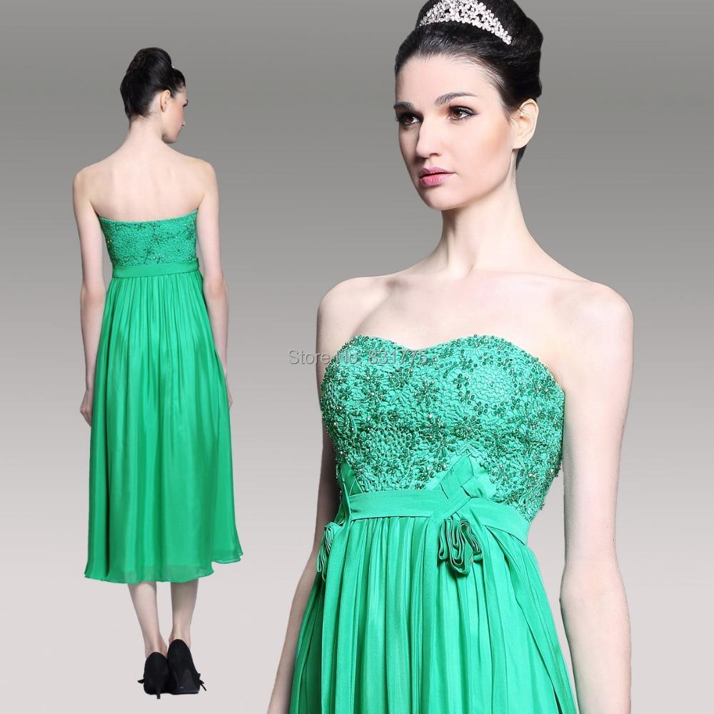 Mid calf length bridesmaid dresses fashion dresses for Calf length wedding dresses