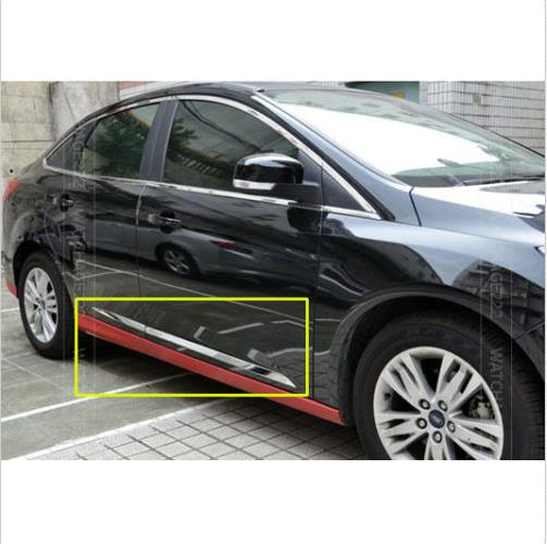 Accessories Fit For 2012 2013 2014 Ford Focus Chrome Side Door Molding Moulding Trim Accents