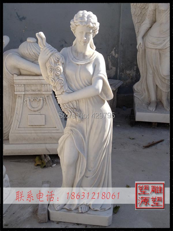 marble western character statue courtyard decoration construction man-made goddess sculpture factory supply - chunjing cao's store