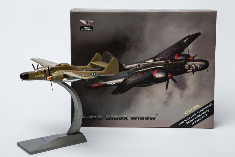 Air Force 1 1:72 World War II US Air Force Black Widow P-61 night fighter model Alloy aircraft model<br><br>Aliexpress