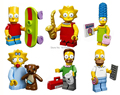 The Simpsons Mini Fiugres DIY Plastic Toy Dolls Kids Construction Toys Bricks Building Blocks Compatible With