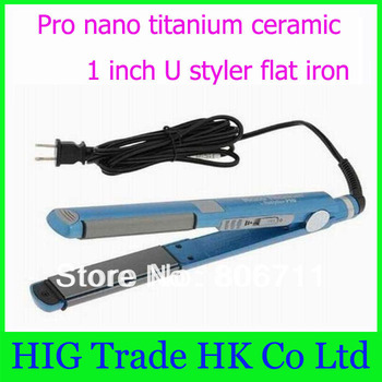 "1pcs/lot PRO Nano Titanium 1"" U Styler Sol-Gel Straightening iron/Flat iron hair straightener #U62"