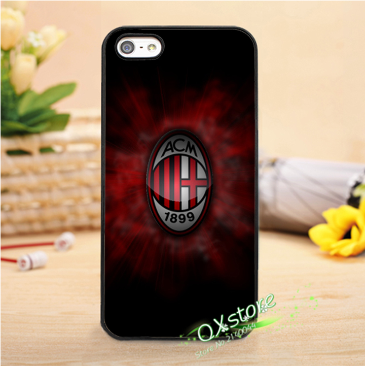 AC Milan 5 fashion phone cover case for iphone 4 4s 5 5s SE 5c 6 6s 6plus & 6s plus #wk0009(China (Mainland))