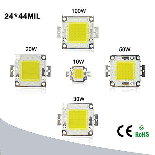 1pcs DIY led lamp beads 10W 20W 30W 50W 100W high power Chip for LED Floodlight lamp white / warm white outdoor lighting(China (Mainland))