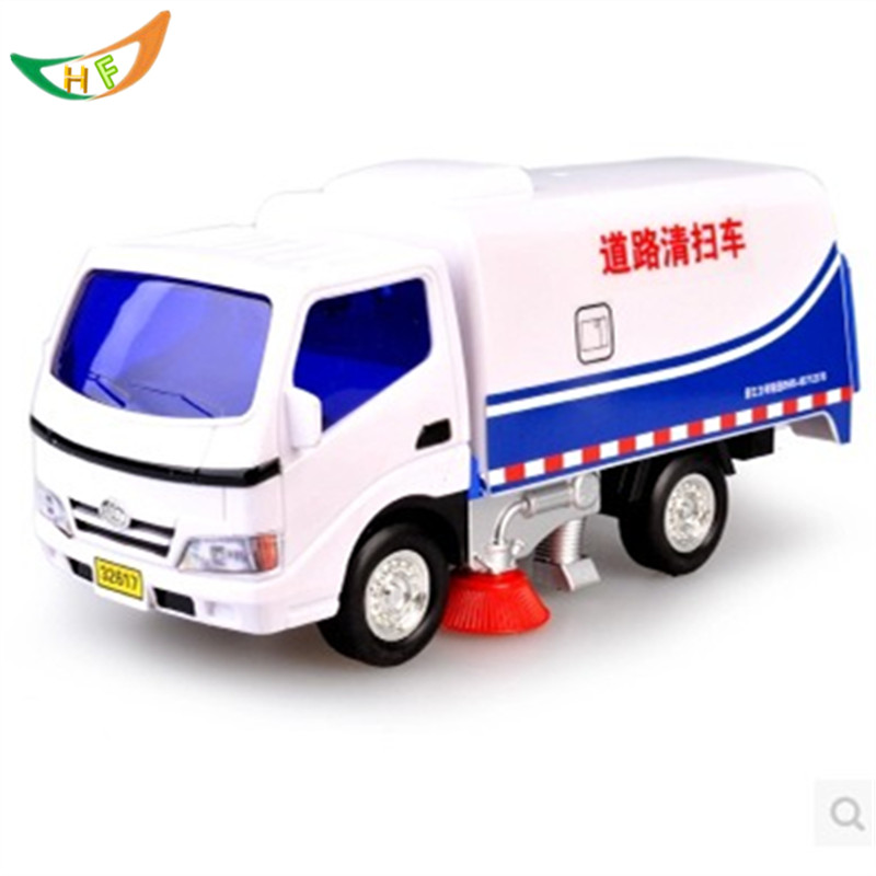 Water sprinkler crane dump-car city sanitation road sweeper engineering scania truck model toys kids(China (Mainland))