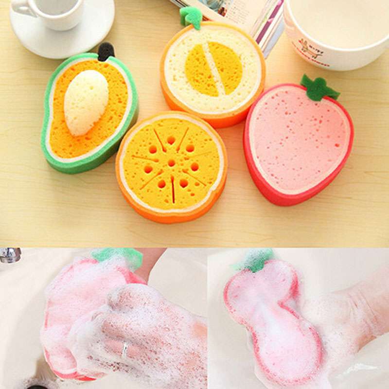 2pcs High efficient fruit magic sponge cleaning face wash dish emery strong decontamination kitchen home washing cleaner tool(China (Mainland))