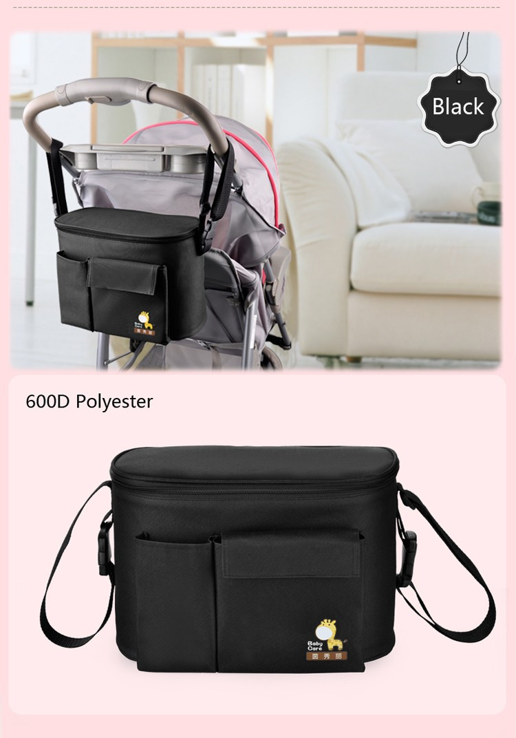 thermal insulation baby mummy stroller bag diaper nappy changing stroller bag. Black Bedroom Furniture Sets. Home Design Ideas