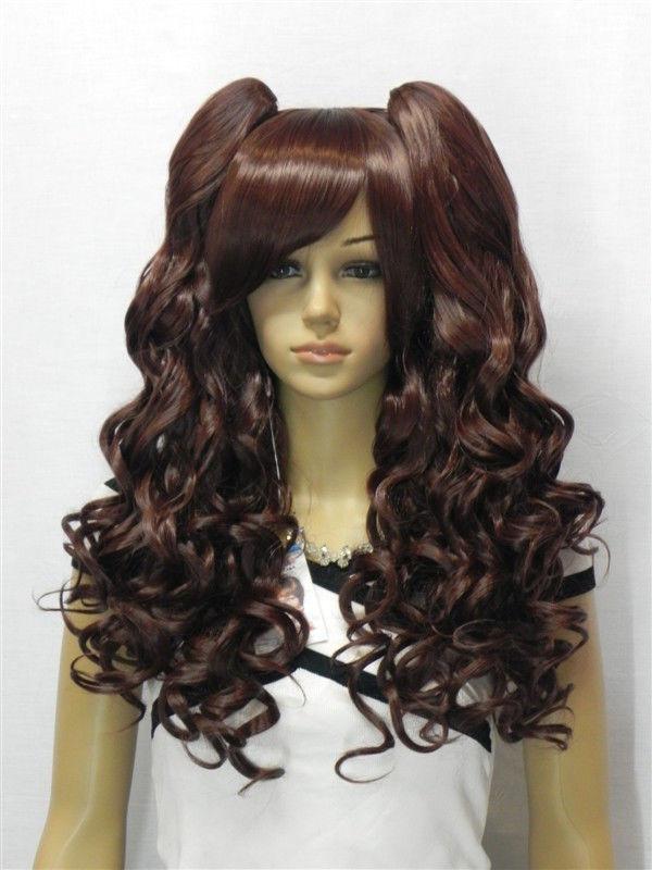 NEW WOMENS dark brown long curly WIG (B0320)<br><br>Aliexpress