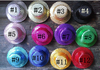 12 colors Mini Top Hat Fascinator base girls 50pcs/lot Free shipping