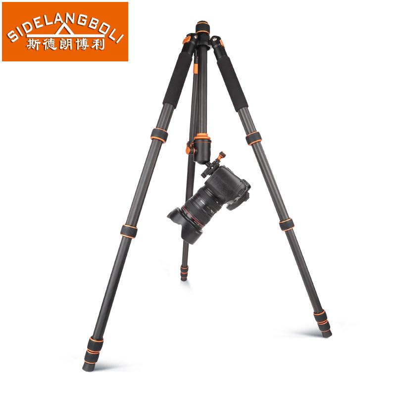 SL-368CProtable Легкий углеродного волокна Штатив с Rocker Arm Сумка для Цифоровой Зеркальный Фотоаппарат Canon Nikon Sony Видеокамера