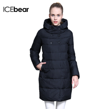 ICEbear 2015 Winter Women New Specials Cultivate One's Morality With Thick Warm Long Cotton-Padded Jacket Coat 15G6128(China (Mainland))