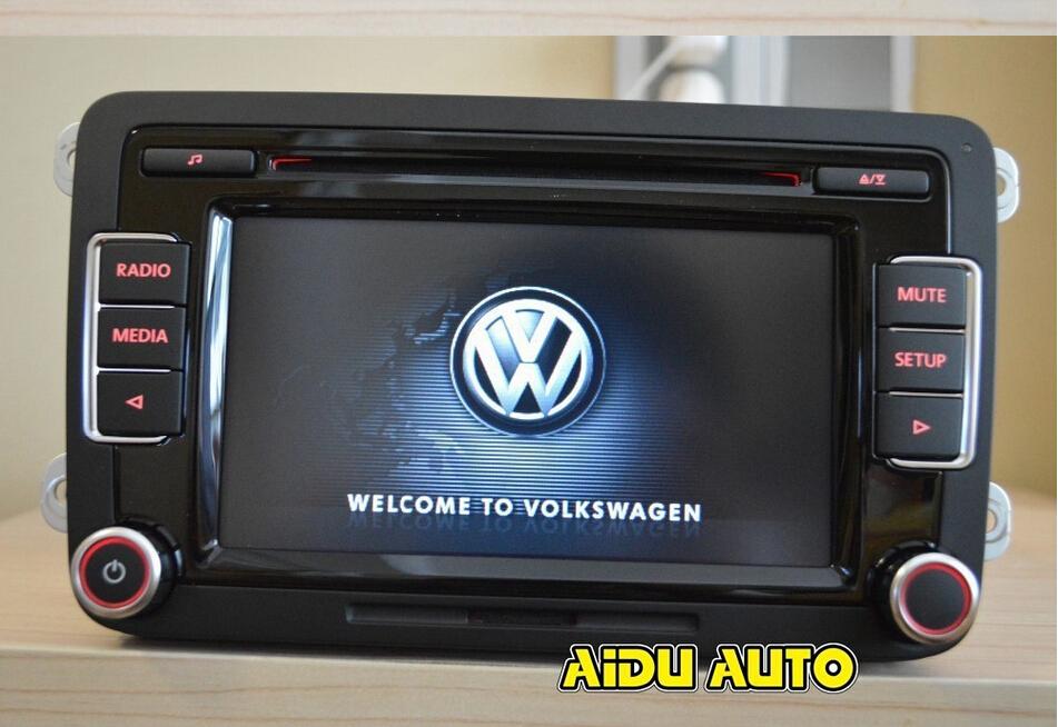 vw car radio rcd510 new original radio with code for vw golf 5 6 jetta cc tiguan passat without. Black Bedroom Furniture Sets. Home Design Ideas