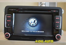 VW Car Radio RCD510 New Original  Radio With Code  for VW Golf 5 6 Jetta CC Tiguan Passat without Reverse Image interface