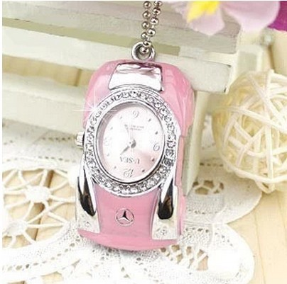 Jewelry USB flash drive Diamond crystal car watch USB Flash 2.0 Memory Drive Stick S90(China (Mainland))