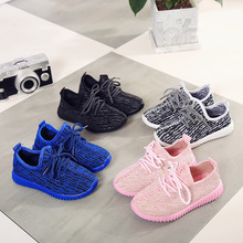 Children Kids Yeezy Shoes for Little Girls Boys Baby Bebe Shoes 2017 Spring Winter Air Mesh Sneakers Famous Brand Boys 350 Shoes(China (Mainland))