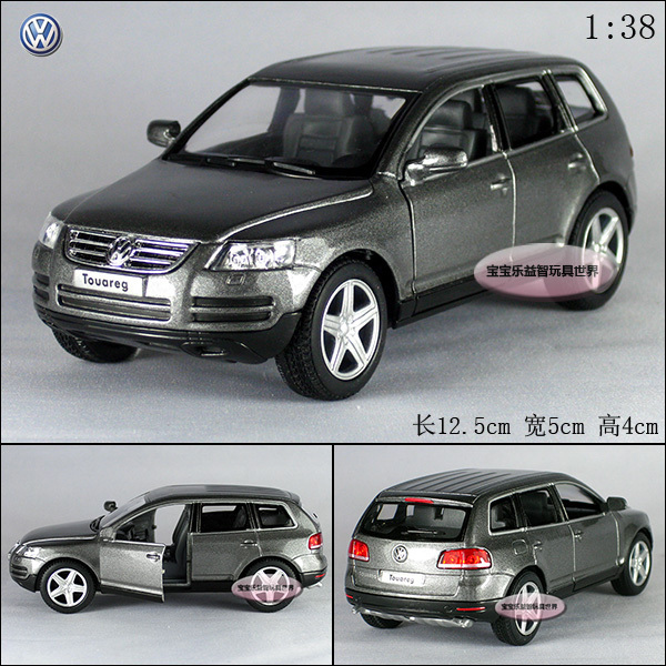 NEW 1:38 Volkswagen Touareg Alloy Diecast Model Car Grey Toy collection B147c(China (Mainland))