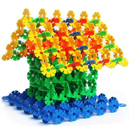 550pcs/set  Multicolors plastic mid size classic snowflake building blocks DYI assembling brick toy  kids educational gift <br><br>Aliexpress