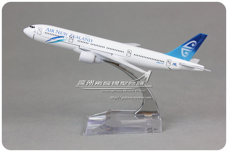 16cm New Zealand B777 200 Airlines Alloy Airplane Model Airways Plane Model Diecast Souvenir Collections Vehicle Toy(China (Mainland))