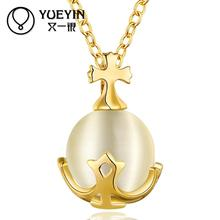 51-A Wholesale Nickle Free Antiallergic 18K Real Gold Plated Necklace pendants New Fashion Jewelry