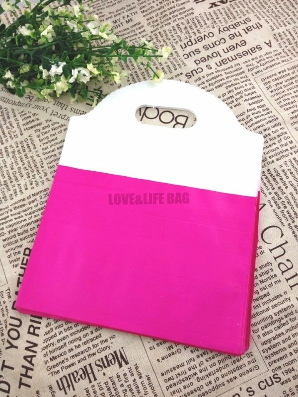 High Quality Plastic Shopping Bag Supplier,50pcs 18*23cm Hot Pink Thick Plastic Gift Jewelry Clothes Packaging Bag Pouch(China (Mainland))