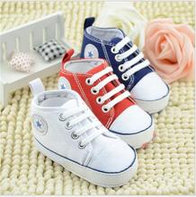 100pairs/lot Lace-up Classic Sports Sneakers for Baby
