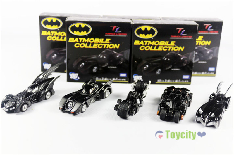 """5pcs Set DC Tomica Limited TC Batmobile Collectible 7cm/2.8"""" New in Box(China (Mainland))"""