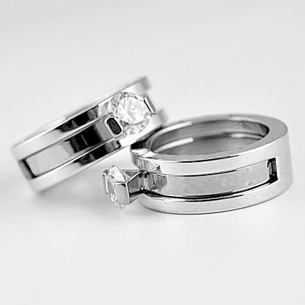 Free Shipping AAA Quality Fashion Jewelry CZ Diamond Stainless Steel Letter  Rings(DJ0550)<br><br>Aliexpress