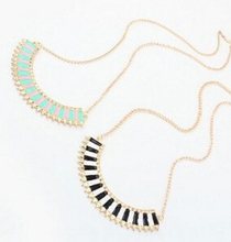 2015 New European And American Punk Style Jewelry Crescent Wild Collision Color Sweater Chain Necklace Chain Jewelry Chest M41(China (Mainland))