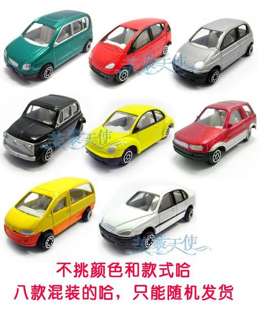 Lovely 8 mini alloy car models child puzzle toy car model 0.04