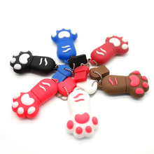 Pendrives Cat Paw Pen Drive Tiny Footprint USB Flash Drive 4gb 8gb 16gb 32gb Flash Memory Stick Flash Card Free Shipping