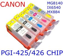 PGI-425 426BK 426C 426M 426Y Refillable ink cartridge printer MG8140 MG6140 MG5240 MG5140 IP4840 IX6540 IP4940 MG5340 MG6240