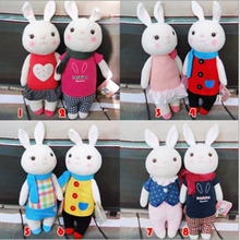 35cm Factory wholesale tiramisu rabbit rabbit plush doll toy microphone METOO gift doll for birthday gift 2pcs/lot