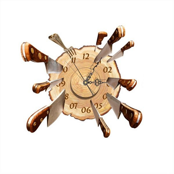 DIY Wall Decal Clock Fly Cutter 3D Wall Stickers Clock 3D Art Wall Clock(China (Mainland))