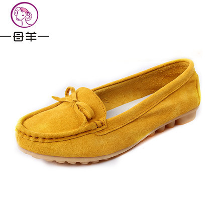 New fashion loafers 2014 women genuine leather flat casual shoes women flats female mother shoes