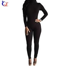 Womens Sexy Rompers Jumpsuits Long Sleeve High Neck Slim Pants Jumpsuits Stretchy and comfortable Tight Bodycon Bodysuits