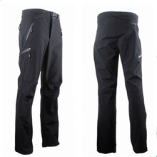 2015 Fleece Outdoor soft shell Hiking Pants Men Softshell Camping Climbing Sportwear Long Trousers Windproof Waterproof