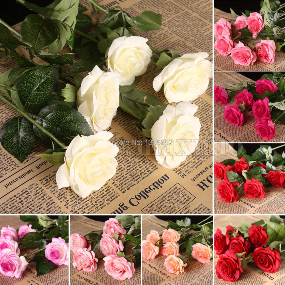 Free Shipping 10 heads Rose Artificial Flowers Silk Flowers Floral Home Wedding Party Garden Bridal Hydrangea Decoration(China (Mainland))