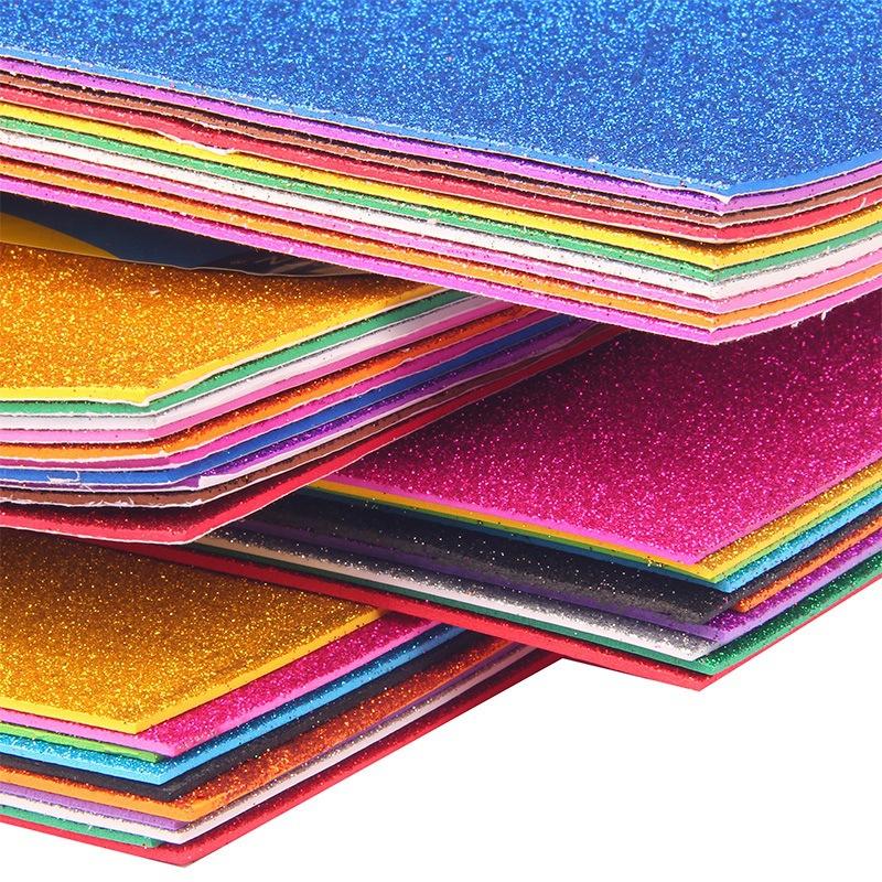 pcl a mm de folha de espuma eva cosplay multicolor esponja papel glitters
