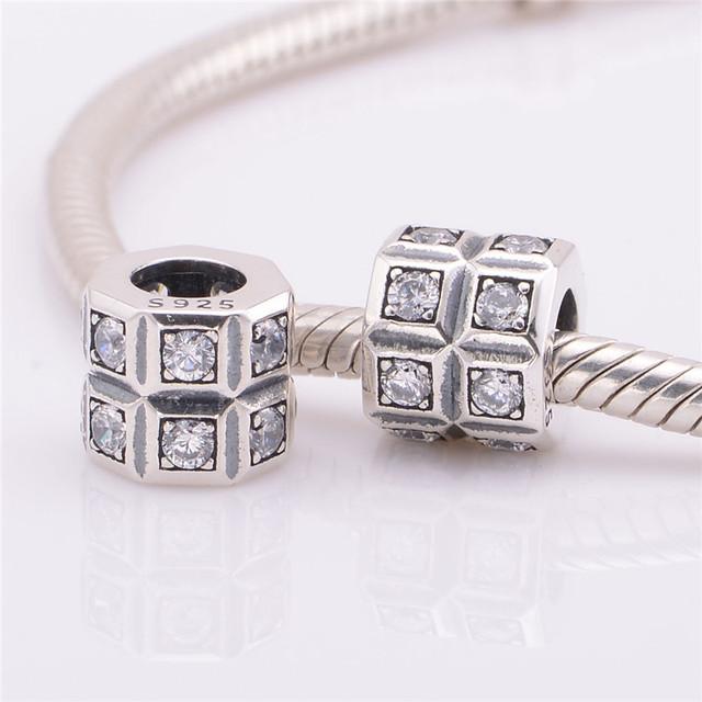 S925 стерлингового серебра Jewerly уникальный CZ камни бусины DIY выводы ввбр женщины подходит пандора Chamilia очаровывает браслеты и ожерелье