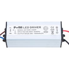Durable alto consumo de energía adaptador AC / DC 50 W 1.5A conductor llevado 20 - 39 V iluminación Transformers Power Supply para la lámpara de la bombilla(China (Mainland))