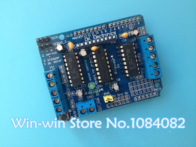 Free shipping! Motor-driven expansion board L293D motor control shield for arduino Duemilanove, Mega 2560 and UNO(China (Mainland))
