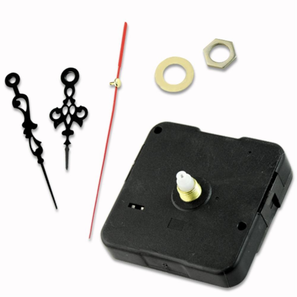 5pcs/Lot New Black Hands Quartz Clock Movement Mechanism Parts Repair Replacing Essential Tools Quiet EN1558(China (Mainland))