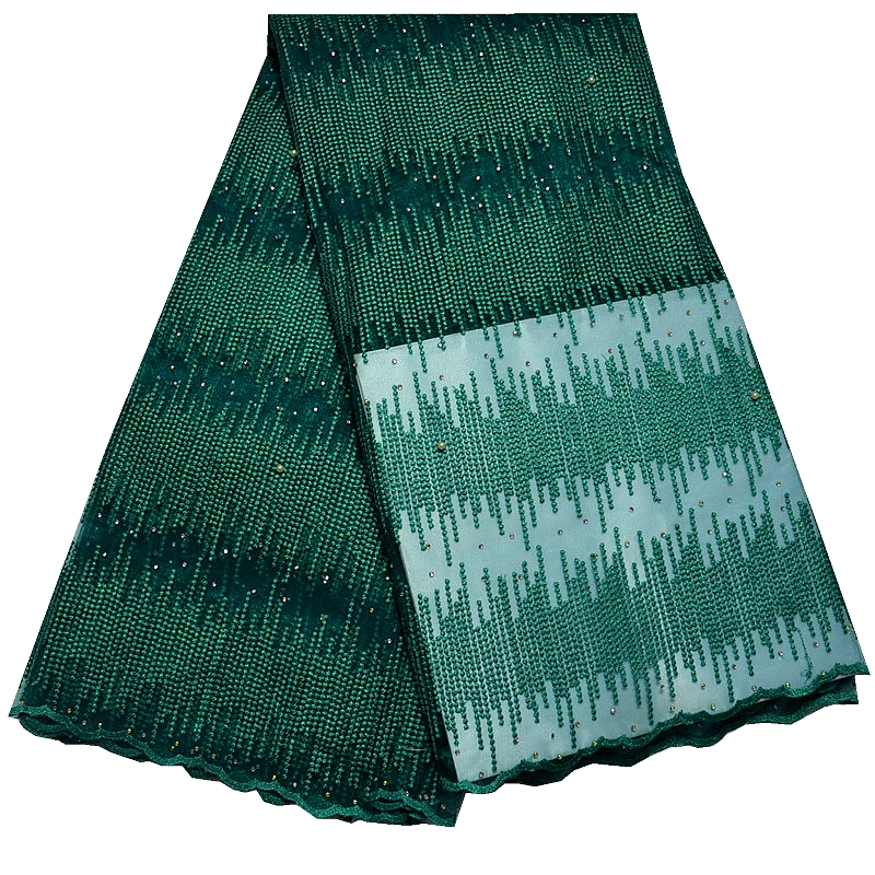 new design African Net Lace High Quality,nigeria Lace Guipure lace Fabric in green color 5yards for woman wedding dress or party(China (Mainland))