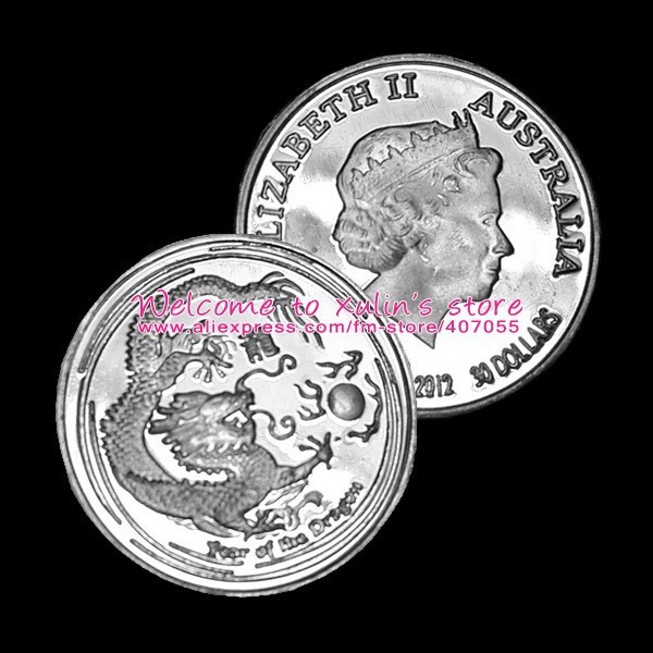 BS0001 Free Shipping 50 Pcs 1 Gram Tiny Silver Coin 999 Fine Silver Material Not Silver Clad or Plated Chinese Dragon Design(China (Mainland))