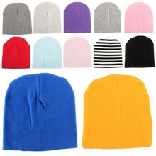 Chic Candy Colors Toddler Baby Boy Girl Cotton Warm Soft Crochet Cute Hat Cap Beanie(China (Mainland))