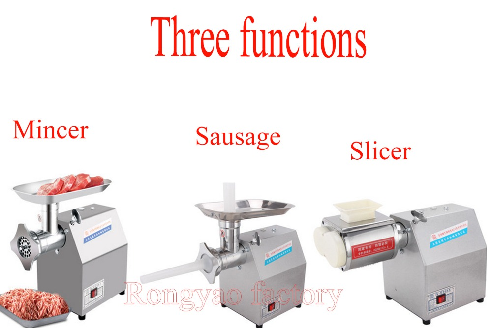 stainless steel meat grinder & Slicing machine Meat Processing equipment for kitchen and restaurant(China (Mainland))