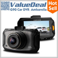 "G90 Car camera Ambarella  A7 1080P Full HD Car DVR Recorder Detector Video Registrator 2.7""LCD Dash Cam G-Sensor New 2014"