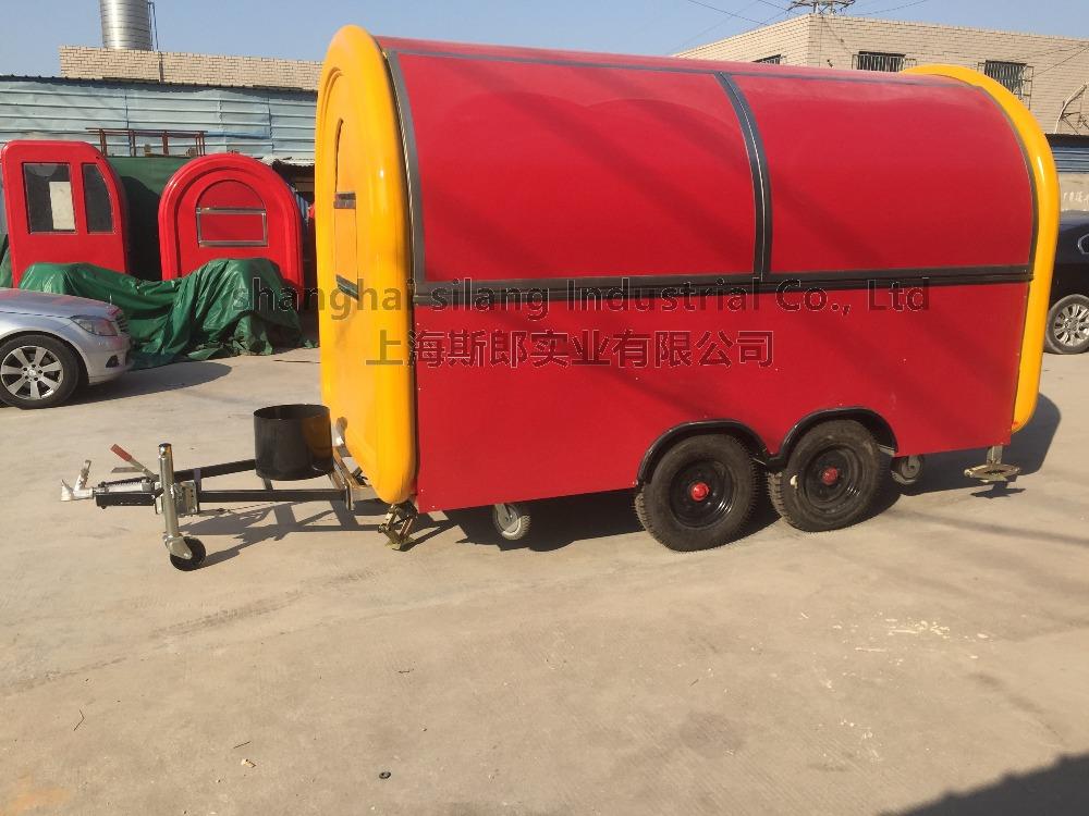 biaxial food cart trailer mobile food truck Mechanical braking to Australian standard in Europe(China (Mainland))