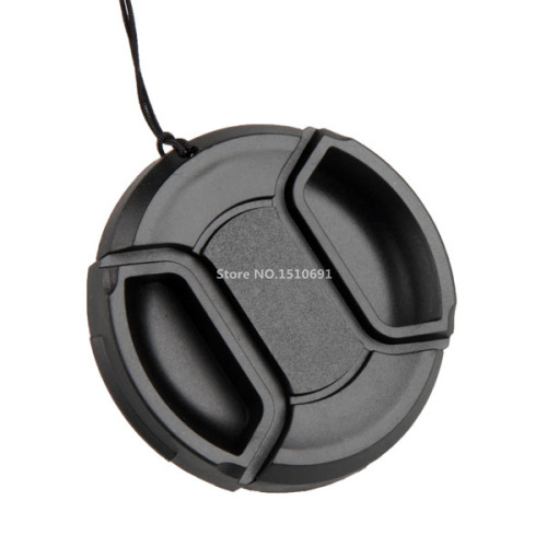 100PCS 49mm 52MM 55mm 58mm 62mm 67mm 72mm 77mm Snap-On Front Lens Cap/Cover for Can&amp;n, Nik&amp;n, all DSLR lenses with rope<br><br>Aliexpress